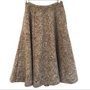 [PERRY ELLIS] 5% Cashmere Midi Skirt w Side Button